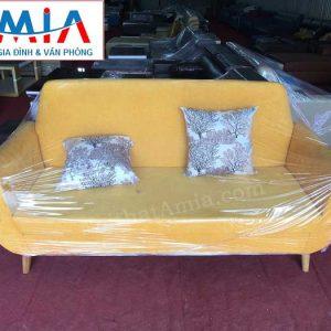 Hình ảnh mẫu ghế sofa văng nỉ đẹp hiện đại với gam màu vàng trẻ trung