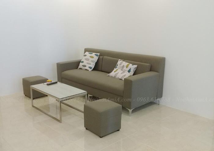 Hình ảnh Mẫu ghế sofa văng đẹp hiện đại chất liệu da