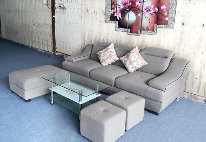 Hình ảnh Bộ ghế sofa văng đẹp hiện đại giá rẻ tại Hà Nội
