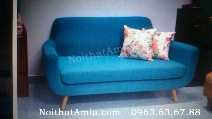 Hình ảnh cho mẫu ghế sofa văng đẹp với gam màu xanh cô ban độc đáo và mới lạ