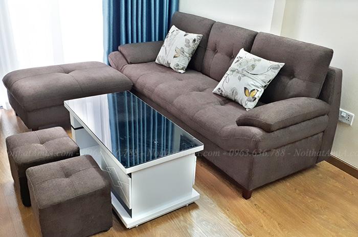 Hình ảnh Mẫu ghế sofa văng nỉ đẹp cho không gian căn phòng khách chung cư