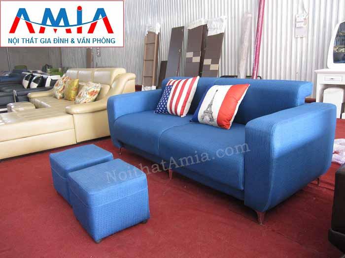 Hình ảnh cho bộ sản phẩm sofa văng nỉ đẹp với thiết kế 2 chỗ ngồi tiện lợi AmiA SFN104