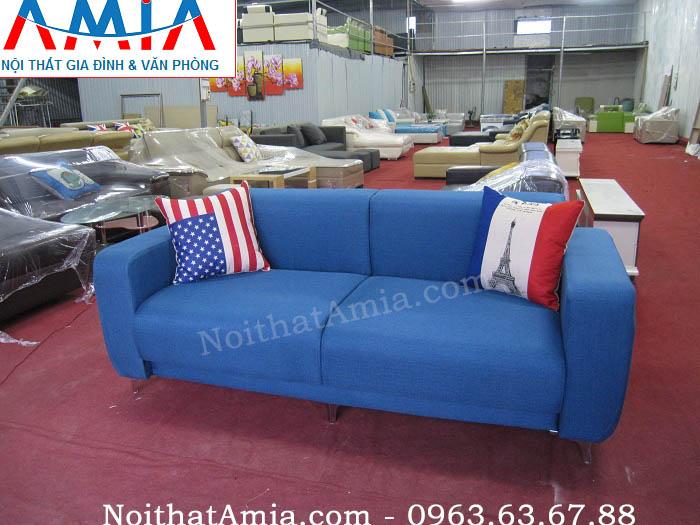 Hình ảnh cho mẫu ghế sofa văng đẹp màu xanh cô ban tinh tế và trẻ trung