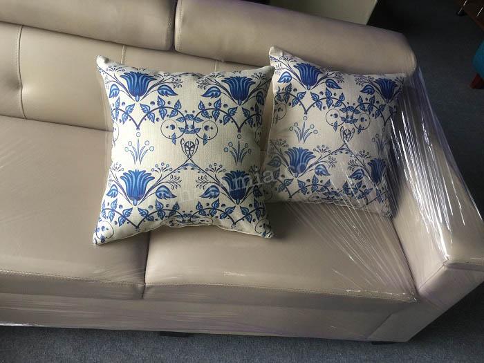 Hình ảnh cho gối sofa họa tiết hoa văn đẹp cho bộ ghế sofa phòng khách gia đình
