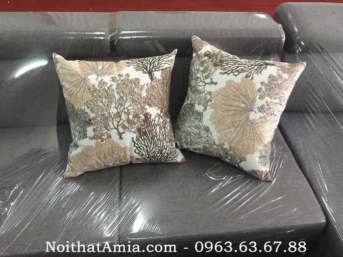 Hình ảnh cho mẫu gối sofa đẹp hiện đại với màu sắc nhã nhặn, trẻ trung