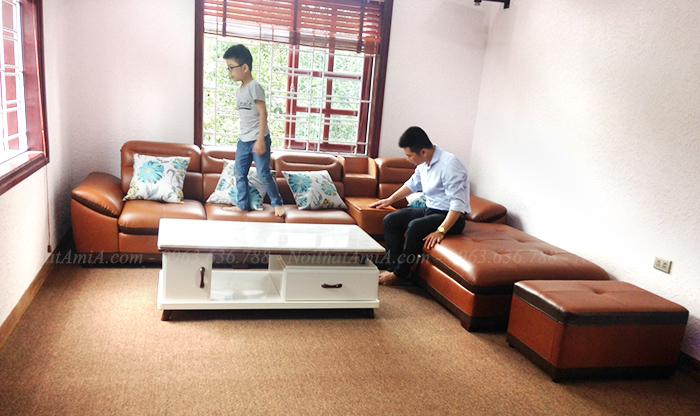 Hình ảnh Ghế sofa đẹp chữ L thật hiện đại và sang trọng