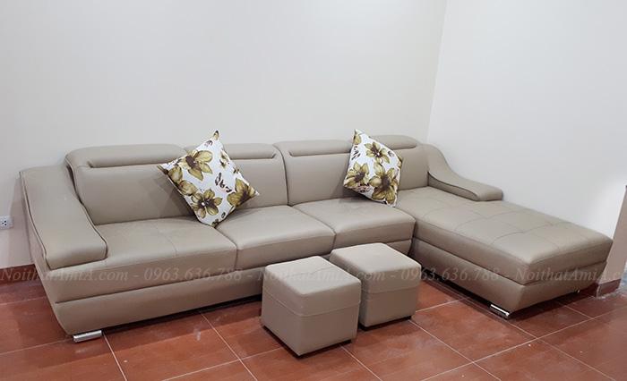 Hình ảnh Mẫu ghế sofa đẹp hiện đại và 2 đôn nhỏ