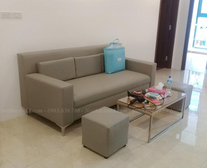 Hình ảnh Mẫu ghế sofa văng đẹp bài trí trong phòng khách nhà khách hàng