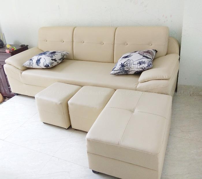 Hình ảnh Mẫu sofa văng đẹp 3 chỗ hiện đại và sang trọng tại Hà Nội