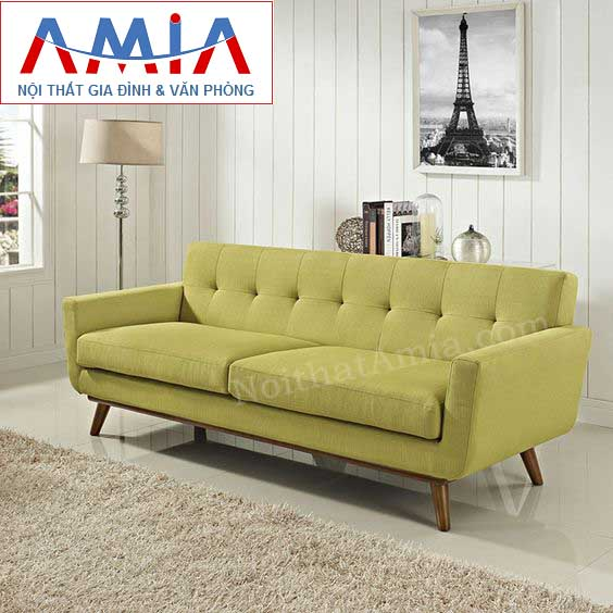 Hình ảnh cho ghế sofa văng đẹp nhỏ xinh với màu vàng chanh độc đáo