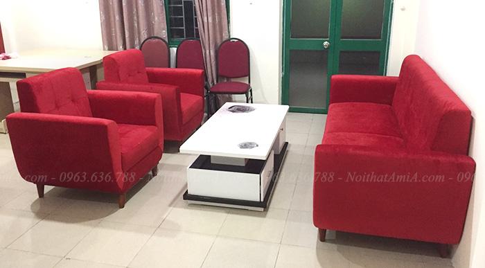 Hình ảnh Mẫu sofa văng đẹp kết hợp ghế đơn cho căn phòng khách đẹp