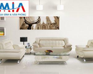 Hình ảnh sofa da nguyên bộ đẹp hiện đại cho không gian phòng khách sang trọng