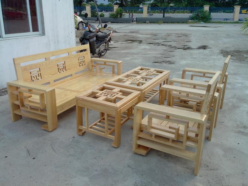 Hình ảnh cho mẫu ghế sofa gỗ đẹp hiện đại với kích thước nhỏ cho căn hộ chung cư