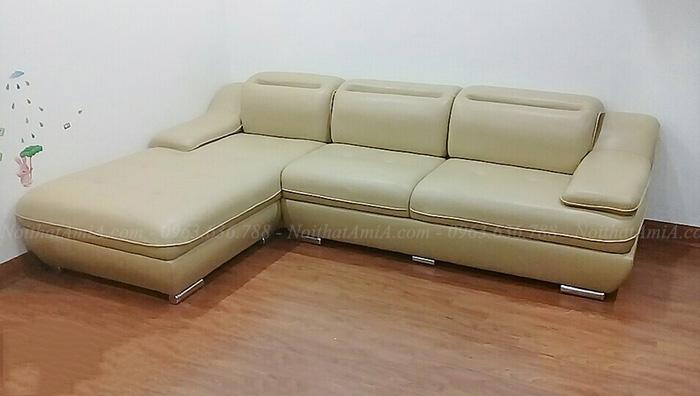 Hình ảnh Sofa góc da chữ L đep hiện đại cho căn phòng đẹp