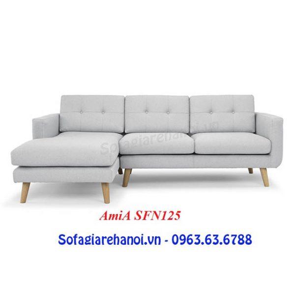 Hình ảnh mẫu sofa nỉ chữ L 3 chỗ đơn giản mà đẹp cho sự lựa chọn của bạn
