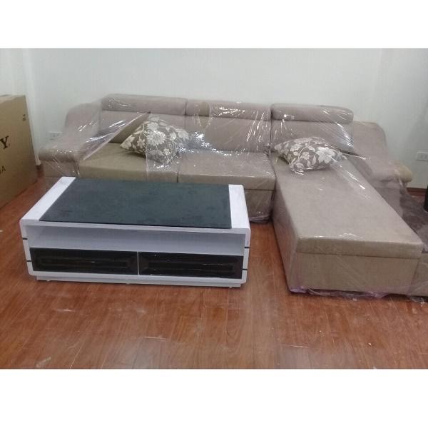 Hình ảnh cho mẫu ghế sofa nỉ góc chữ L đẹp hiện đại cho phòng khách đẹp