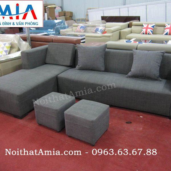 Hình ảnh cho mẫu ghế sofa nỉ góc chữ L đẹp hiện đại cho không gian căn phòng khách nhỏ