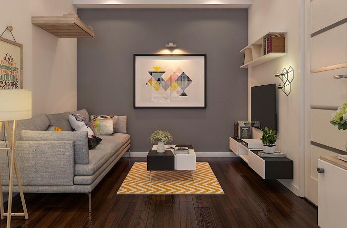 Hình ảnh cho mẫu ghế sofa văng dài đẹp hiện đại bài trí trong phòng khách nhà chung cư