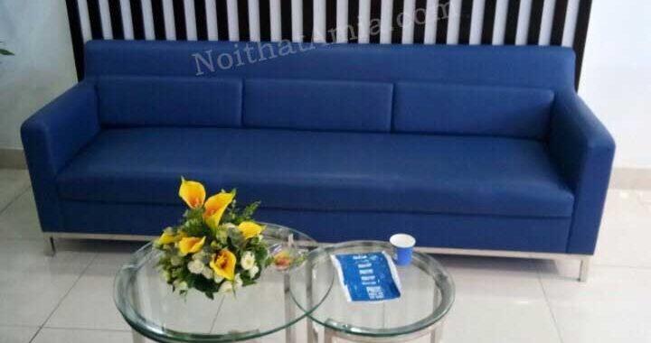 Hình ảnh cho mẫu sofa văng da 3 chỗ đẹp hiện đại cho căn phòng khách nhỏ