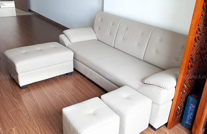 Hình ảnh Sofa văng da đẹp hiện đại và sang trọng cho căn phòng đẹp