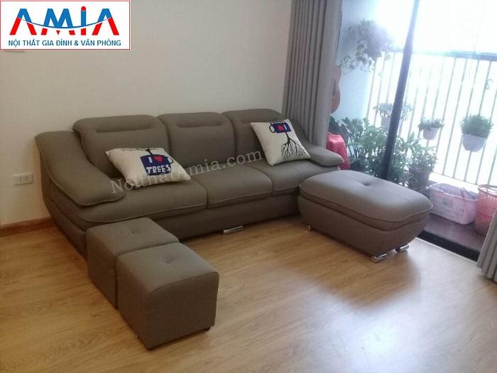 Hình ảnh cho mẫu ghế sofa văng đẹp được bài trí trong phòng khách nhà khách hàng