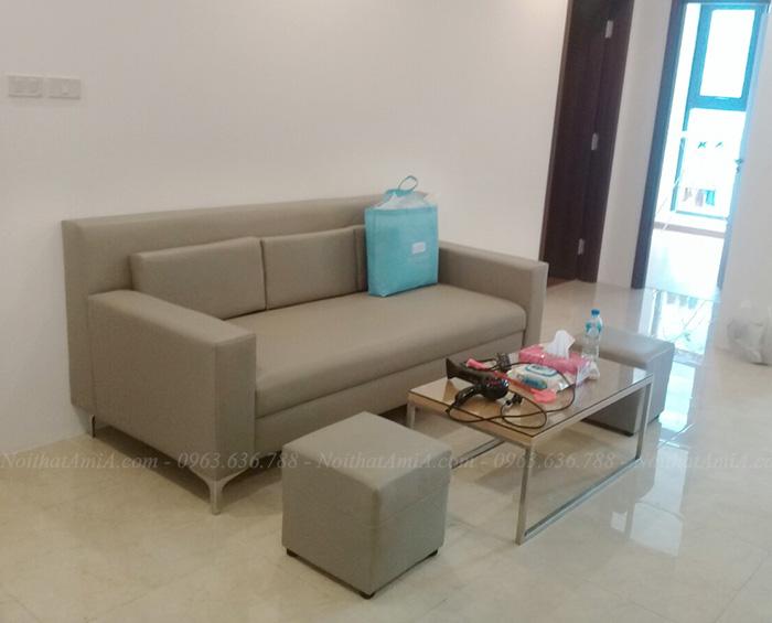 Hình ảnh Mẫu ghế sofa văng đẹp hiện đại cho phòng khách chung cư