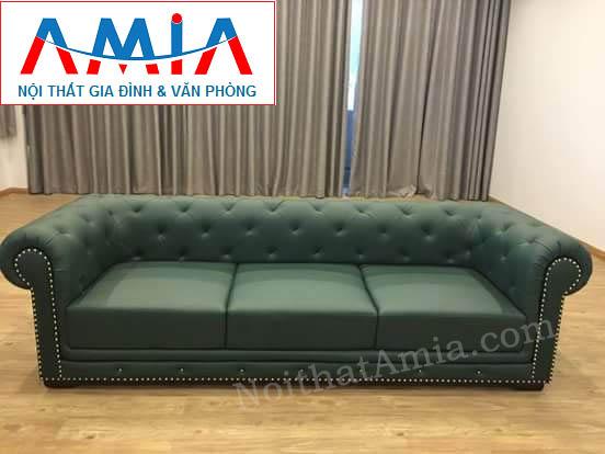 Hình ảnh cho mẫu ghế sofa văng da 3 chỗ hiện đại phù hợp với các không gian căn phòng đẹp