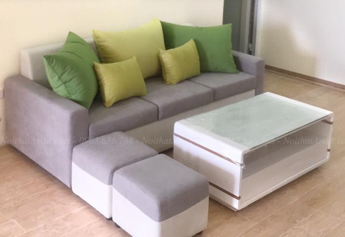 Hình ảnh Sofa văng đẹp hiện đại kết hợp bàn trà xinh xắn