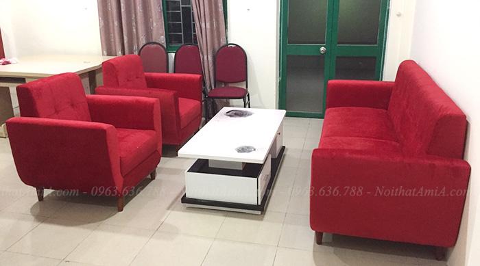 Hình ảnh Bộ ghế sofa văng đẹp kết hợp ghế sofa đơn
