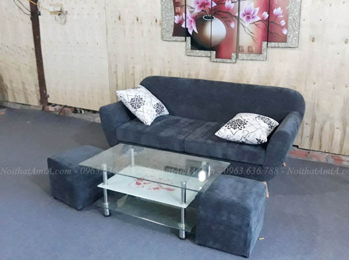 Hình ảnh Mẫu ghế sofa văng đẹp nhỏ xinh cho phòng khách nhỏ gia đình