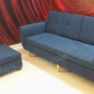 Hình ảnh cho mẫu ghế sofa văng nỉ với thiết kế rút khuy hiện đại và tinh tế