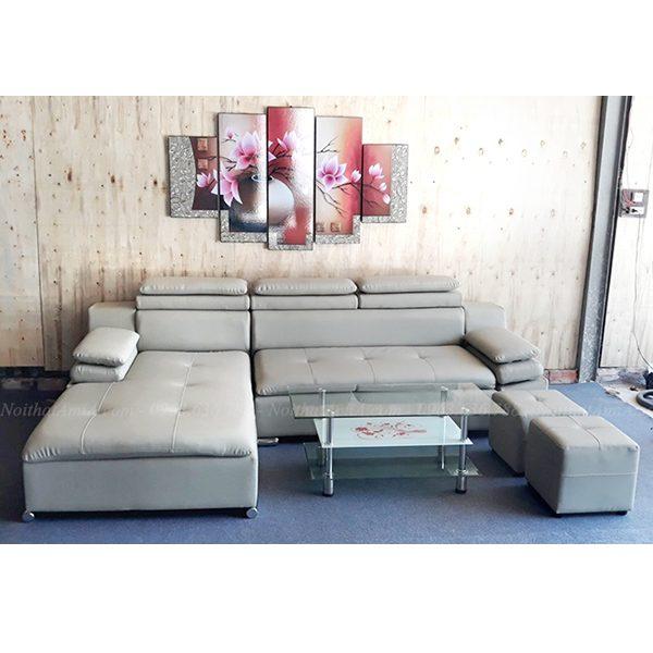 Hình ảnh Ảnh đại diện mẫu ghế sofa đẹp da chữ L hiện đại và sang trọng