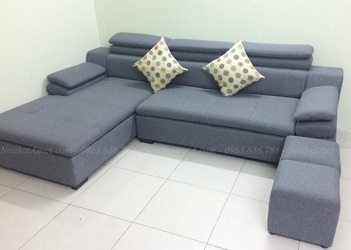 Hình ảnh Mẫu ghế sofa đẹp góc chữ L được làm theo yêu cầu với chất liệu nỉ hiện đại