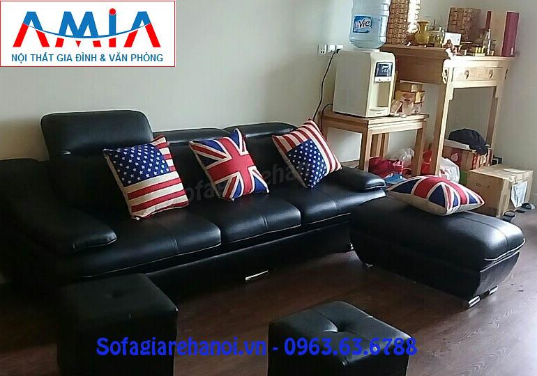 Hình ảnh cho mẫu ghế sofa văng da 3 chỗ được đặt làm theo yêu cầu tại Nội thất AmiA