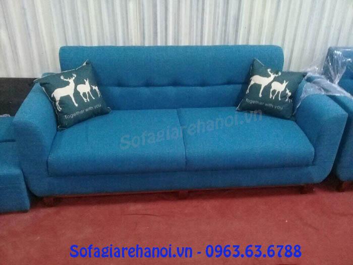 Hình ảnh cho mẫu ghế sofa văng nỉ màu xanh đẹp hiện đại giá rẻ