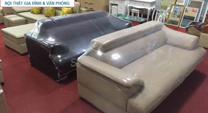 Hình ảnh các mẫu ghế sofa văng da đẹp đang được bán và trưng bày tại Tổng kho Nội thất AmiA