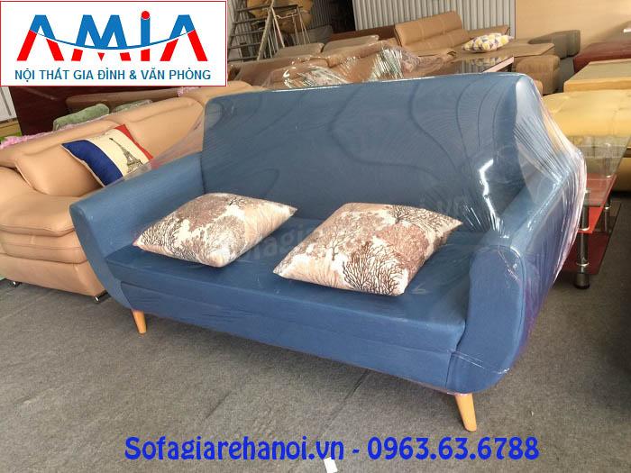 Hình ảnh cho mẫu sofa văng nỉ đẹp màu xanh cô ban tại Nội thất AmiA