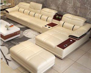 Hình ảnh bộ ghế sofa da chữ L đẹp hiện đại và sang trọng cho căn phòng khách đẹp