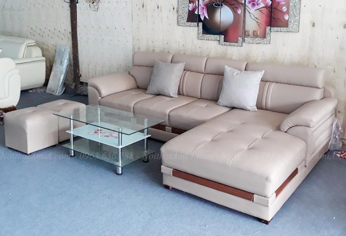 Hình ảnh Bộ ghế sofa da phòng khách đẹp hiện đại và sang trọng
