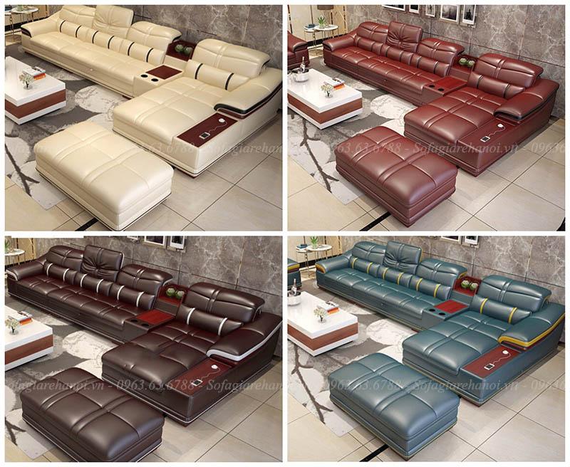 Hình ảnh bàn ghế sofa da chữ L đẹp hiện đại