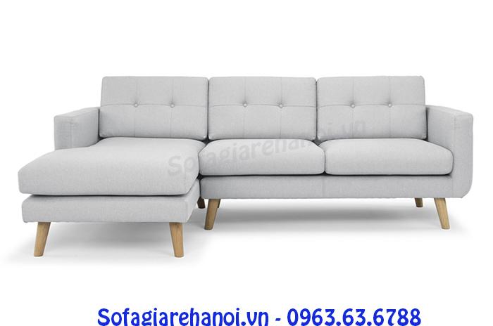 Hình ảnh cho mẫu ghế sofa nỉ góc chữ L đẹp hiện đại cho không gian căn phòng khách vừa và nhỏ
