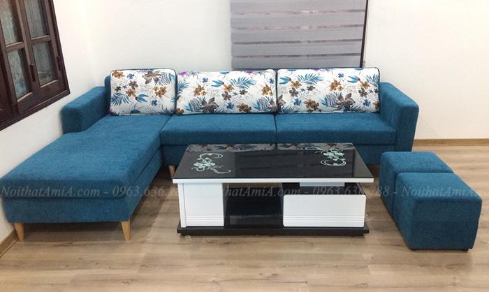 Hình ảnh Ghế sofa nỉ góc chữ L đẹp hiện đại và sang trọng cho căn phòng đẹp