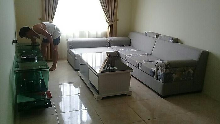 Hình ảnh cho bộ ghế sofa nỉ góc chữ L đẹp hiện đại cho không gian phòng khách đẹp