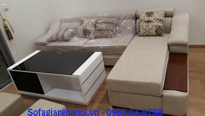 Hình ảnh cho mẫu ghế sofa nỉ góc chữ L đẹp hiện đại cho không gian căn phòng khách đẹp gia đình Việt