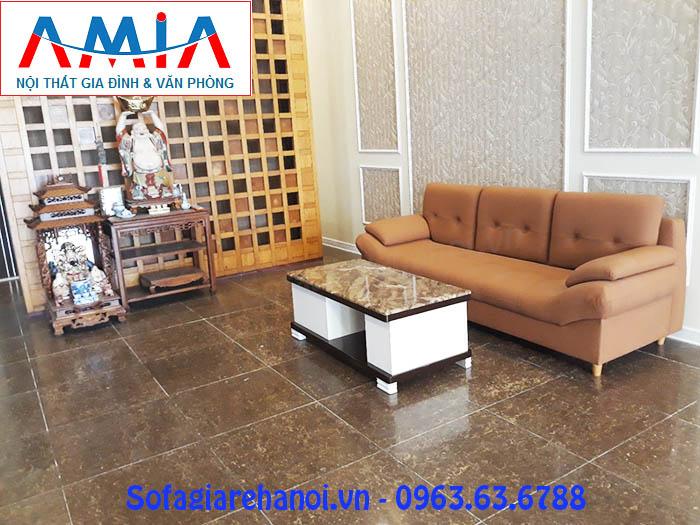 Hình ảnh cho ghế sofa văng da đẹp với thiết kế rút khuy tạo điểm nhấn tuyệt vời