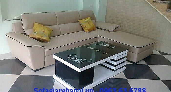 Hình ảnh cho mẫu sofa da góc chữ L đẹp cho căn phòng khách gia đình