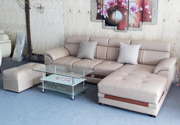 Hình ảnh Ghế sofa da đẹp cho phòng khách thật đẳng cấp và thời thượng