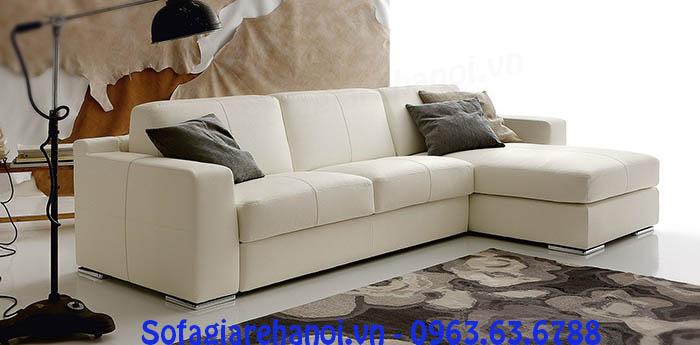 Hình ảnh cho sofa da góc chữ L nhỏ gọn đẹp hiện đại