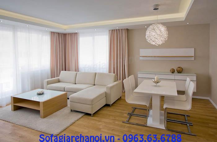 Hình ảnh cho mẫu sofa da góc chữ L nhỏ cho nhà nhỏ đẹp hiện đại