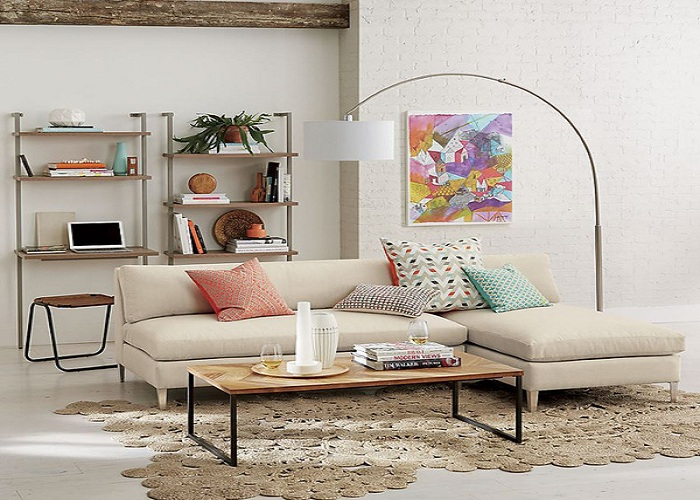 Hình ảnh cho mẫu sofa nỉ góc chữ L đẹp thật bền bỉ và chất lượng